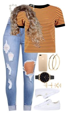 """9.29.16"" by mcmlxxi ❤ liked on Polyvore featuring Boohoo, Puma, Pieces, Olivia Burton and Luv Aj"