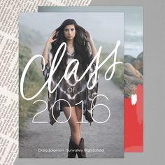 Pure Class | Graduation Announcement Cards by Mpix | Design by @brightroom | http://www.mpix.com/cards/graduation/graduation-announcements/pure-class