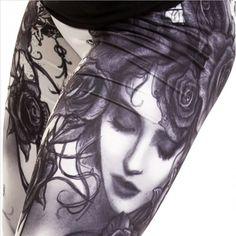 "Leggings Alchemy Gothic ""Bella Rose"""
