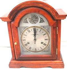 C. Wood & Son Mahogany Case 8 Day  Striking Mantle / Bracket Clock 14 H 12 W