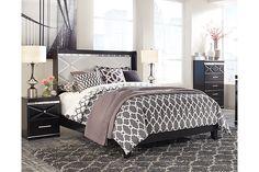 Black Fancee Queen Panel Bed View 1