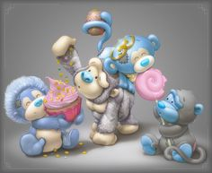 ♥ Blue Nose Friends ♥