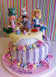 Alice in Wonderland, Mad Hatter Tea Party #cake. Most wonderful work by Richard's Cakes! by TNBrat