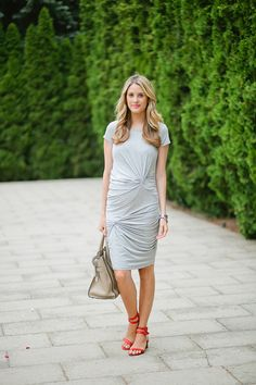 Ivory Lane- cute maternity style  I like the gray w/pop of red