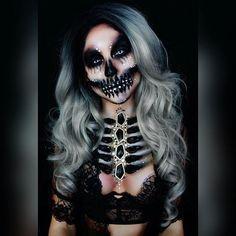 WEBSTA @ deadchicksarecool - Wicked skull body art by the bad ass @twistinbangs!www.deadchicksarecool.com#gorgeous #altgirl #alternativegirl #creepygirl #creepygirls #creepgirlsdoitbetter #goth #gothgirl #hair #ombrehair #makeup #darkmakeup #eyemakeup #makeupartist #skullmakeup #skeletal #diamondskull #ribcage #mua #bodyart #deadgirl #livingdeadgirl #lingerie #beauty #darkbeauty #deadchick #deadchicksarecool
