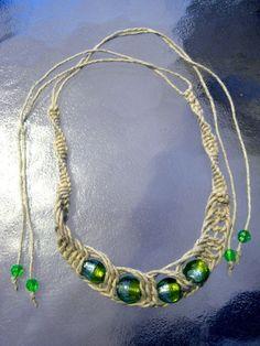 Fishbone Hemp Necklace