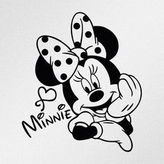 Sticker made of high quality Oracal vinyl. This is die cut sticker, it's not printed and has no background. Minnie Mouse Drawing, Mickey Mouse Kunst, Minnie Mouse Stickers, Minnie Mouse Shirts, Oracal Vinyl, Disney Drawings, Drawing Disney, Mickey Minnie Mouse, Disney Mickey