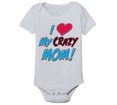 I Heart My MOM - funny cute mothers day cool maternity newborn hip cool girls boys infant outfit clothes - Baby Snap One Piece Funny Baby Clothes, Funny Babies, Cute Babies, Mom Funny, Babies Clothes, Cute Baby Boy, Mom Baby, Baby Shirts, Baby Onesie