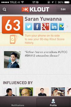 Klout Score True H, Scores, Profile, History, User Profile, Historia