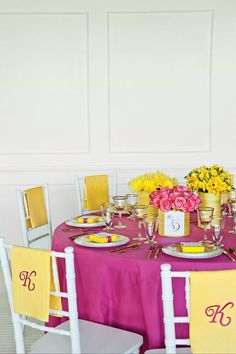Yellow and Pink theme.