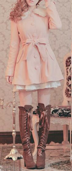 very girly and cuteee  * i gotta have those boots! GAAAHD so many things I want that aren't even available in my country!