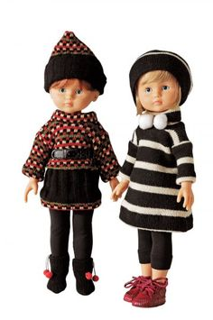 Marie and Claire Les Chéries dolls by Corolle Doll Toys, Baby Dolls, Leggings Gris, Nancy Doll, Knit Crochet, Crochet Hats, Mini Robes, Picasa Web Albums, Duffle Coat