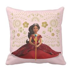 Elena of Avalor | Elena Dressed Royally Throw Pillow. *** Discover even more by checking out the picture