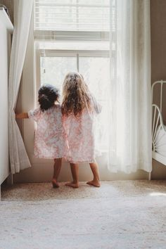 The coziest matching Girl's Cotton Nightdresses from La Paloma for sleep or play!