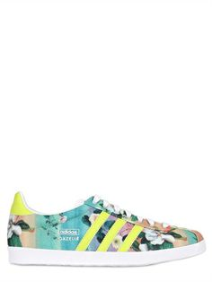 size 40 aa676 f212c Adidas Originals Gazelle OG Farm Floral Print Textile Sneaker Floral  Sneakers, Floral Shoes, Sneakers