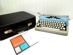 Vintage Typewriter Blue and Gray Royal by GoodBonesVintageCo, $180.00