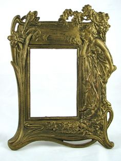 Bubble Glass Analytical 2 Vintage Victorian Metal Oval Picture Frames Florals Made Italy Picture Frames