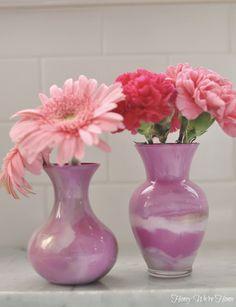 Mother's Day DIY (Paint Swirl Vases)