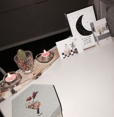 #candles #cactus #home #moon #cards
