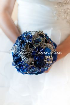 sapphire bouquet by rubybloomscom
