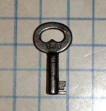 Antique Vtg old Brass No 1 skeleton key cabinet barrel padlock ...