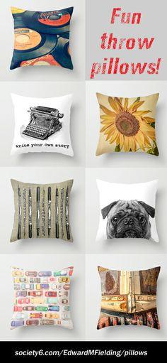Throw pillows by Edward M. Fielding http://society6.com/EdwardMFielding/pillows