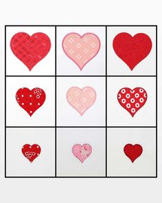 Free Quilt Pattern GO! Heart Weave Throw Quilting Pattern Download Embroidery Hearts, Applique Embroidery Designs, Machine Embroidery Applique, Fabric Cutter, Easy Quilt Patterns, Satin Stitch, Easy Quilts, Weaving, Projects