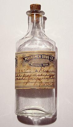 drink me inspiration....victorian medicine bottle