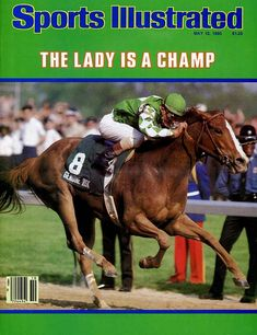 Genuine Risk, 1980 Kentucky Derby winning filly and second in both the Preakness and Belmont, the only filly to run in the Triple Crown races, higher than most colts do. Derby Horse Race, Horse Racing, All The Pretty Horses, Beautiful Horses, Sports Illustrated Covers, American Pharoah, Derby Winners, Sport Of Kings, Thoroughbred Horse