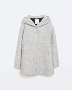 Image 7 of HOODED WOOL COAT
