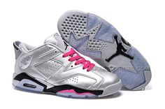 """http://www.nikeriftshoes.com/air-jordan-6-retro-low-valentines-day-silver-pink-on-sale.html AIR JORDAN 6 RETRO LOW """"VALENTINES DAY"""" SILVER PINK ON SALE Only $88.00 , Free Shipping!"""