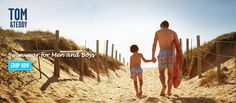 Tom & Teddy   Matching and vibrant swimwear for men and boys.
