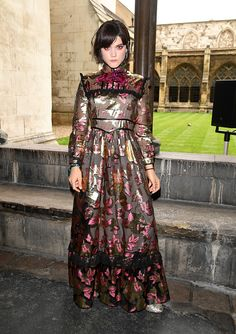Soko attends the Gucci Cruise 2017 fashion show at the Cloisters of Westminster Abbey on June 2 2016 in London England