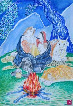 Shiva,Parvati,Ganesh e Kartika di #Virginiart