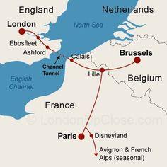 Rotas do Eurostar