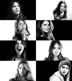 The many faces of Malia Tate/Hale ( Shelley Hennig)