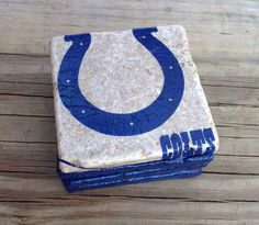 Indianapolis Colts coasters stone tile  4 pack. by CoastersSC