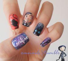 Coraline halloween #nail #nails #nailart