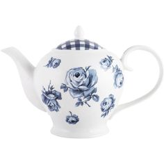 Creative Tops Katie Alice 6 Cup Teapot (310 MAD) ❤ liked on Polyvore featuring home, kitchen & dining, teapots, polka dot teapot, porcelain tea pot, rose tea pot, rose teapot and porcelain teapot