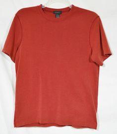 EXPRESS Men's Dark Red T-Shirt Medium Short Sleeves 100% Cotton Summer Style #Express #BasicTee
