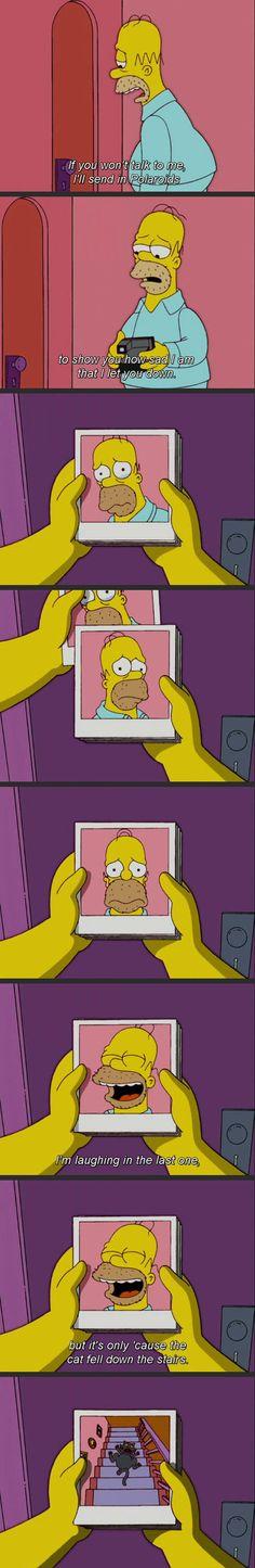 Homer Simpson Takes Polaroids To Express His Sad Emotions