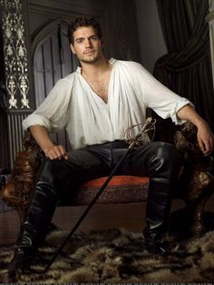 Henry Cavill...  He played the Duke of Suffolk on The Tudors.  He's such a hunky monkey...  and he'll be the new Superman.