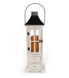 Wooden Lantern-6 x 6 x 19 inches