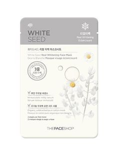 Nature Story THE FACESHOP White Seed Mask Sheet.