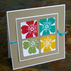 Stampin Up Four Flowers 1