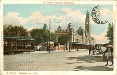 São Paulo – Estação da Luz (S. Paulo Railway Company)  Editores: M. Pontes & Co.  Série em cores nº 191.  Data: desconhecida.