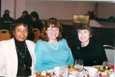 Mercer County Library staff (from left) Jackie Huff, Elissa Pearlman and Ann Kerr, around 1993 #TBT