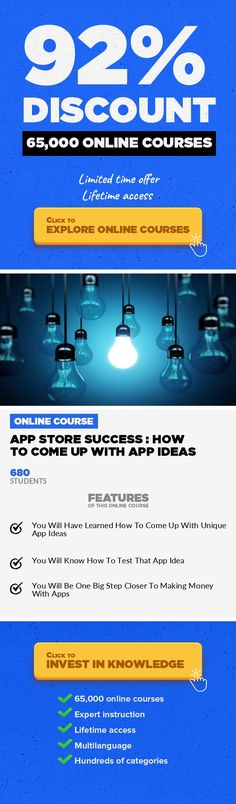 App Store Success : How To Come Up With App Ideas Mobile Apps, Development #onlinecourses #freeonlinelearning #onlinecoursescolleges  Learn How To Come Up With App Ideas For iOS Apps & Android Apps From A Real Android & iOS App Business Developer & Owner Do You Want To Start Making Mobile Apps? Do You Have An App Idea And Want To Know What The Next Step Is? Do You Find It Hard To Come Up With New ...