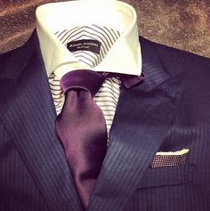 Why not add a vertical stripe bespoke suit to your arsenal?