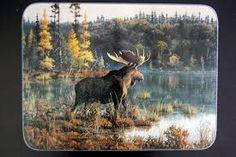 Bilderesultat for maleri av elg